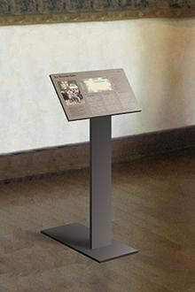 Tout pour plaire - mobilier signalétique - intérieur - pupitre sur pied mobile - Azay-le-Rideau