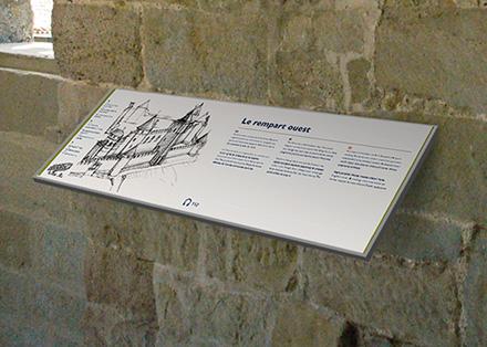 Tout pour plaire - signalétique culturelle - pupitre - carcassonne - centre des monuments nationaux