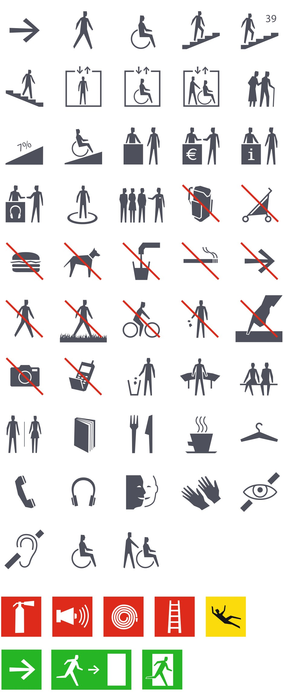 Tout pour plaire - Famille de pictogrammes pour le Centre des monuments nationaux