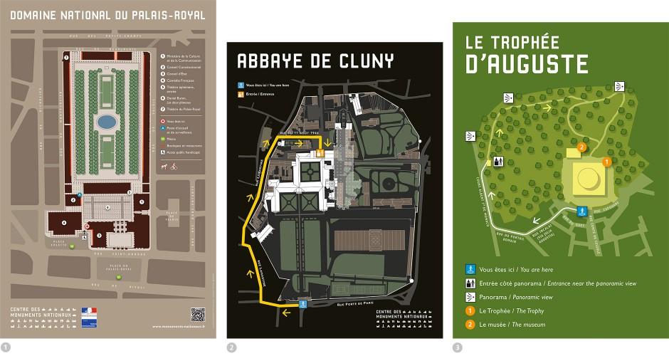 Tout pour plaire - Plans d'accès - Palais Royal - Abbaye de Cluny - Trophée d'Auguste à la Turbie - Centre des monuments nationaux