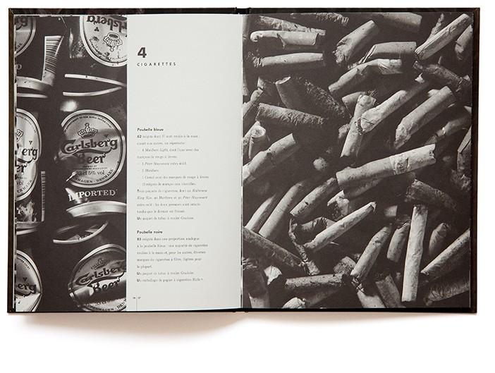 Inventaire d'une poubelle - livre de Marc Dumas et Lucia Guanaes - Éditions Tout pour plaire - isbn : 2-9505544-0-7
